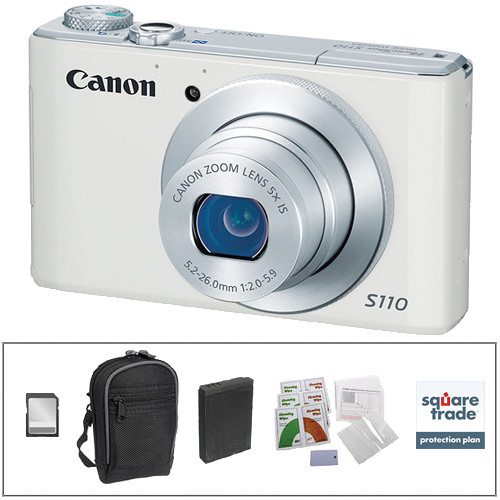 Canon PowerShot S110 Digital Camera Deluxe Kit (White)