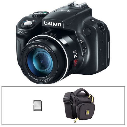 Canon PowerShot SX50 HS Digital Camera with Basic Accessory Kit