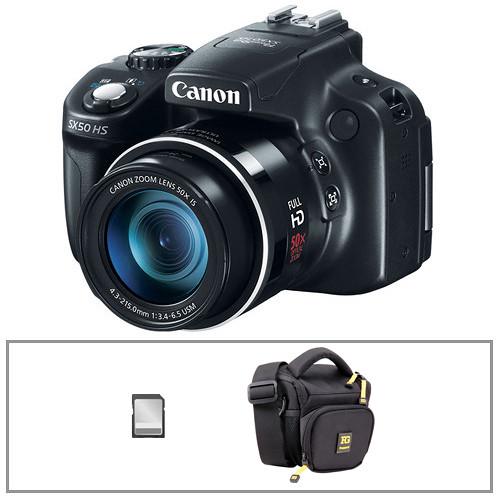Canon PowerShot SX50 HS Digital Camera with Basic Accessory Kit