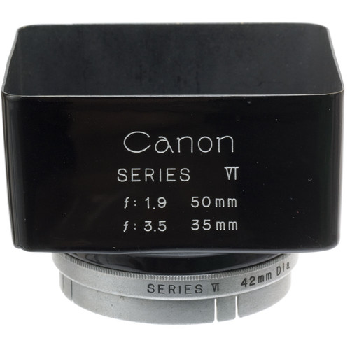 Canon Series 6 Push On Square Metal Lens Hood for 35mm f/3.5 & 50mm f/1.9 Rangefinder Lenses