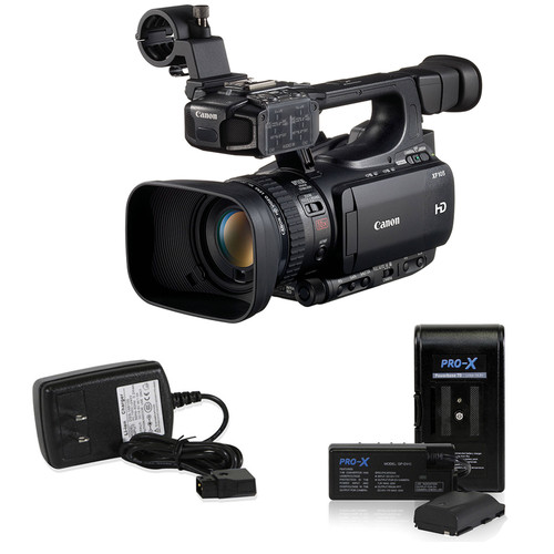 Canon XF105 HD Professional Camcorder with Extended Power Kit