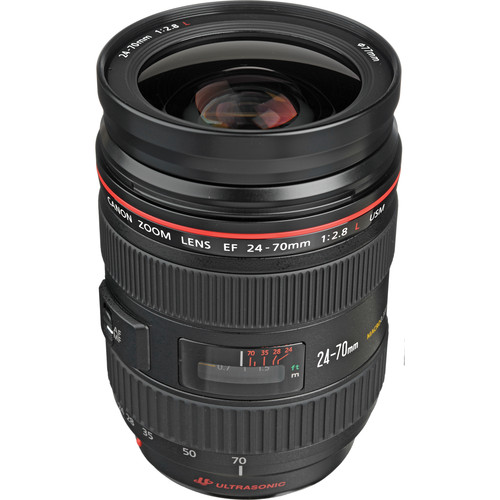 Canon Zoom Wide Angle-Telephoto EF 24-70mm f/2.8L USM Autofocus Lens