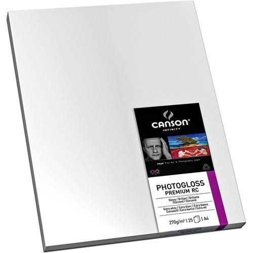 "Canson Infinity PhotoGloss Premium Resin Coated Paper (270gsm, 17 x 22"", 25 Sheets)"