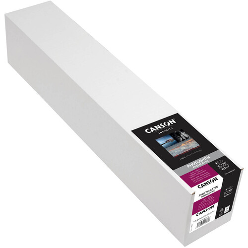 "Canson Infinity PhotoSatin Premium RC 270 Archival Photo Inkjet Paper (17"" x 100' Roll)"