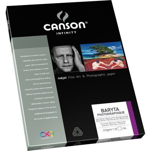 "Canson Infinity Baryta Photographique Paper (8.5 x 11"", 25 Sheets)"