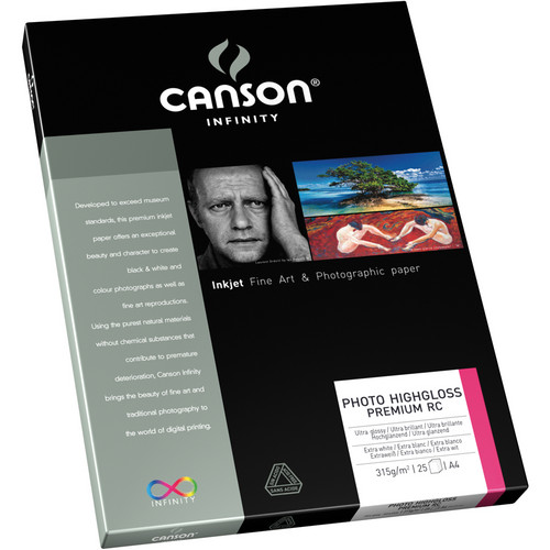 "Canson Infinity Photo HighGloss Premium RC Paper (8.5 x 11"", 25 Sheets)"