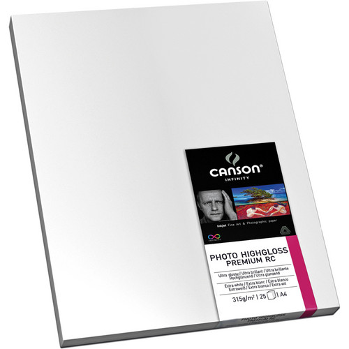 """Canson Infinity 2282 Photo HighGloss Premium RC Paper (315 gsm) 13 x 19"""" / 25 Sheets"""