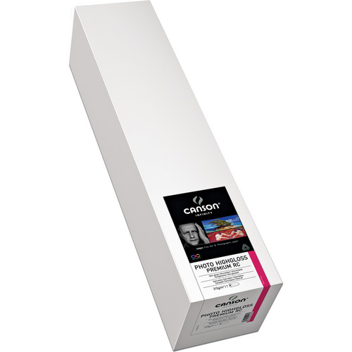 """Canson Infinity Photo HighGloss Premium RC Archival Inkjet Paper Roll (44"""" x 50')"""