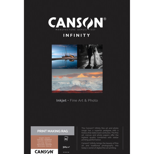 """Canson Infinity PrintMaKing Rag Paper (17 x 22"""", 25 Sheets)"""