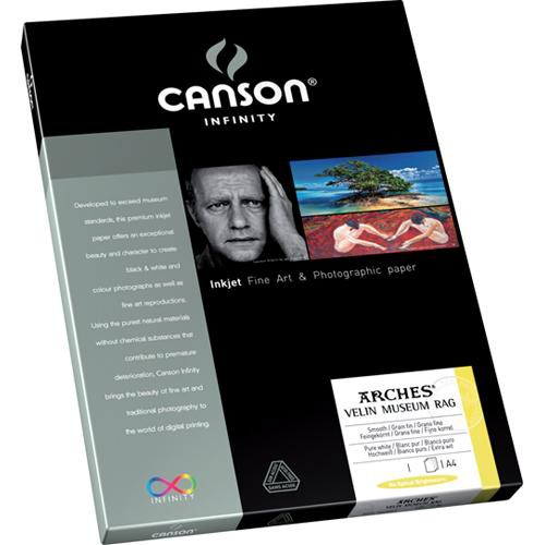 "Canson Infinity Velin Museum Rag Paper (315 gsm, 8.5 x 11"", 10 Sheets)"