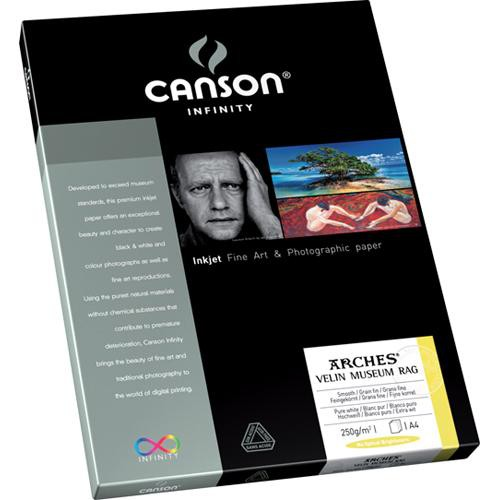 """Canson Infinity Velin Museum Rag Paper (250 gsm, 8.5 x 11"""", 10 Sheets)"""