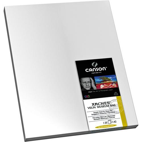 """Canson Infinity Velin Museum Rag (17 x 22"""", 25 Sheets, 250 gsm)"""