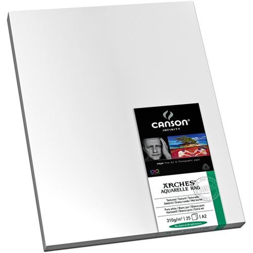 """Canson Infinity Aquarelle Rag Paper (310 gsm, 24 x 36"""", 25 Sheets)"""
