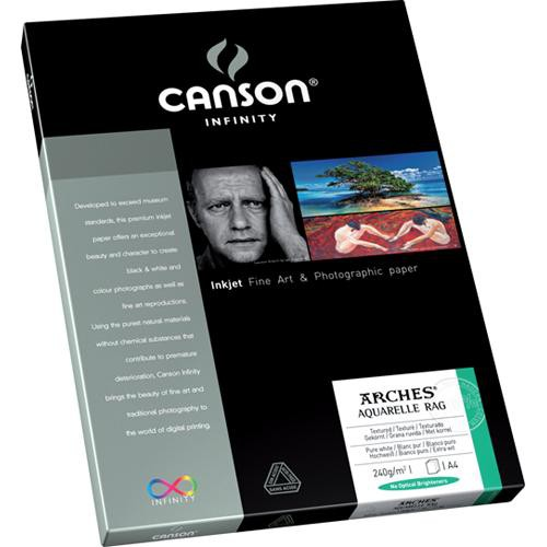"Canson Infinity Aquarelle Rag Paper (240 gsm, 8.5 x 11"", 10 Sheets)"