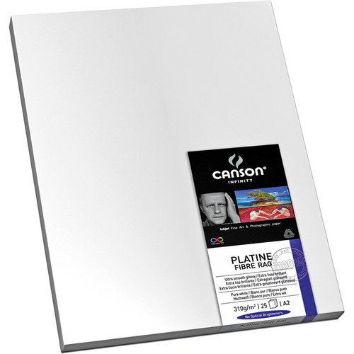 "Canson Infinity Platine Fibre Rag 310 Archival Inkjet Paper (13 x 19"", 25 Sheets)"
