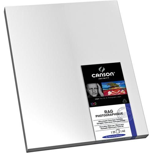 """Canson Infinity Rag Photographique Paper (310 gsm, 24 x 36"""", 25 Sheets)"""