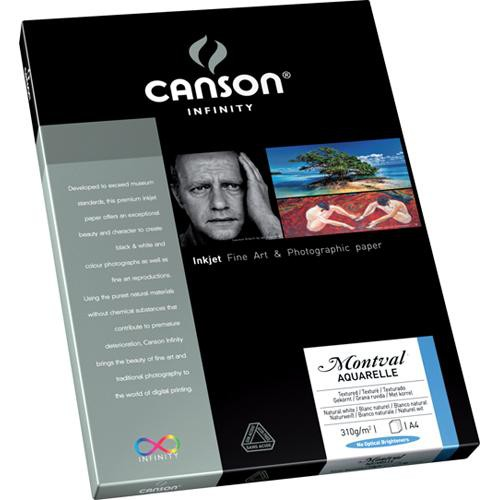 "Canson Infinity Montval Aquarelle Inkjet Paper (310gsm, 8.5 x 11"", 10 Sheets)"