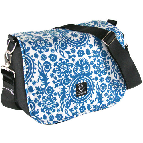 Capturing Couture Penelope Collection: Penelope Bay Camera Bag (Blue Floral)