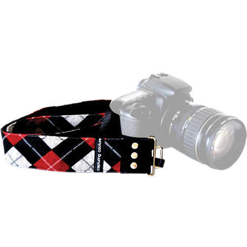 "Capturing Couture Urban Collection: Joey Red 2"" Extended Length SLR/DSLR Camera Strap"