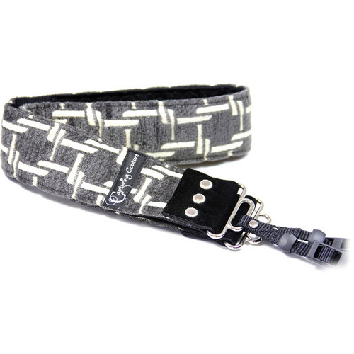 "Capturing Couture Sofia Collection: 2"" Tapestry SLR/DSLR Camera Strap (Montage Gray)"