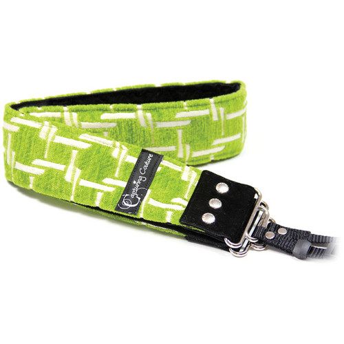 """Capturing Couture Sofia Collection: 2"""" Tapestry SLR/DSLR Camera Strap (Montage Lime)"""