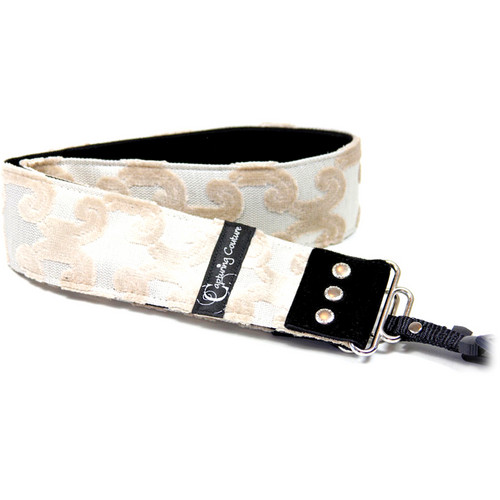 "Capturing Couture Sofia Collection: 2"" Tapestry SLR/DSLR Camera Strap (Peninsula Cream)"