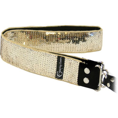 """Capturing Couture Sequin Collection: Sequin Gold Glam 1.5"""" Camera Strap"""