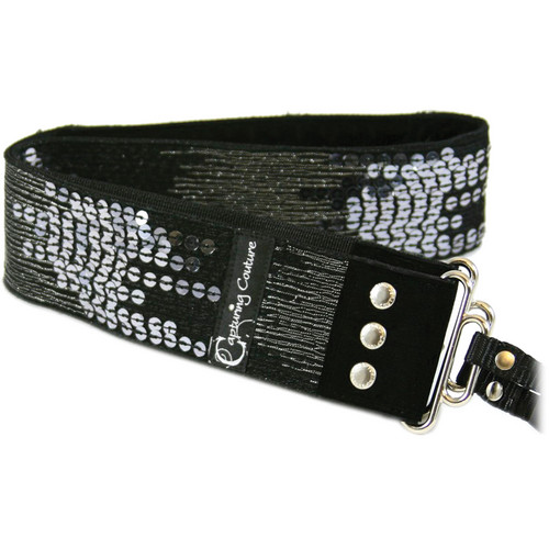 Capturing Couture Sequin Collection: Sequin Camera Strap (Ombre Black)