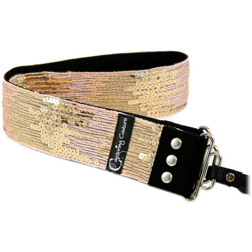 Capturing Couture Sequin Collection: Sequin Camera Strap (Ombre Pink)
