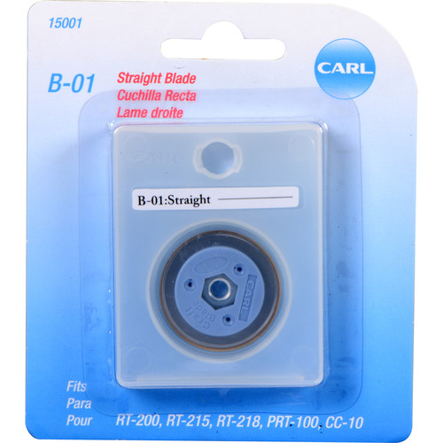 """Carl #B-01 """"Straight"""" Craft Blade for CC-10 and RT-200 Trimmers"""