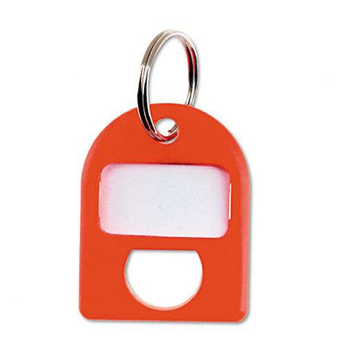 Carl Replacement Security Cabinet Key Tags, (Red)  8/PK