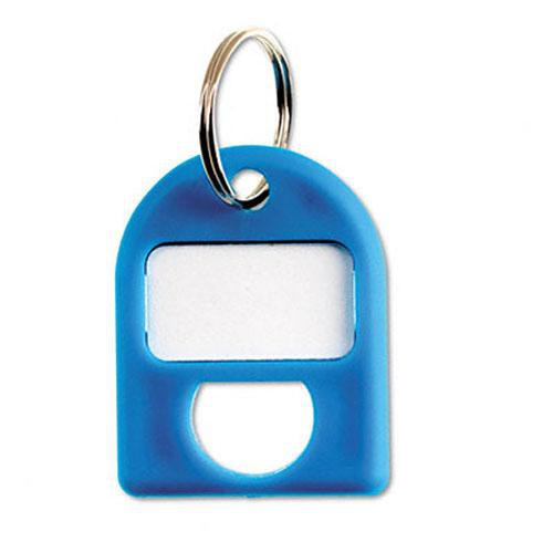 Carl Replacement Security Cabinet Key Tags, (Blue)  8/PK