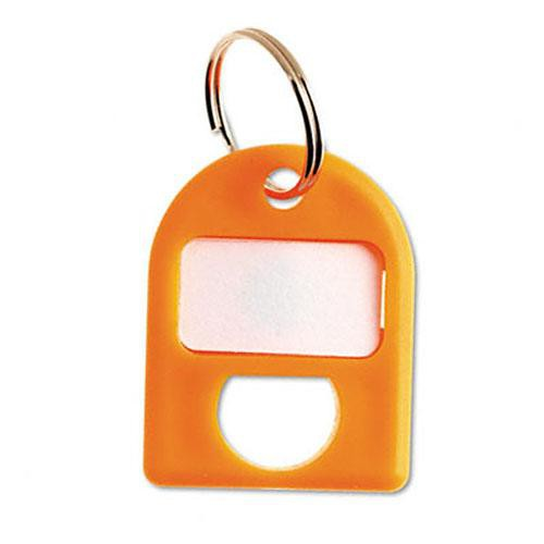 Carl Replacement Security Cabinet Key Tags, (Yellow)  8/PK