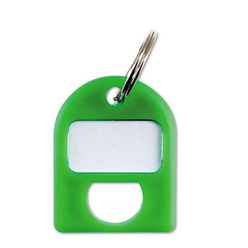 Carl Replacement Security Cabinet Key Tags, (Green)  8/PK