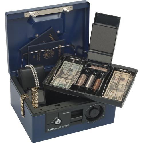Carl CUI88550 Security Box With Dual Lock (Blue)