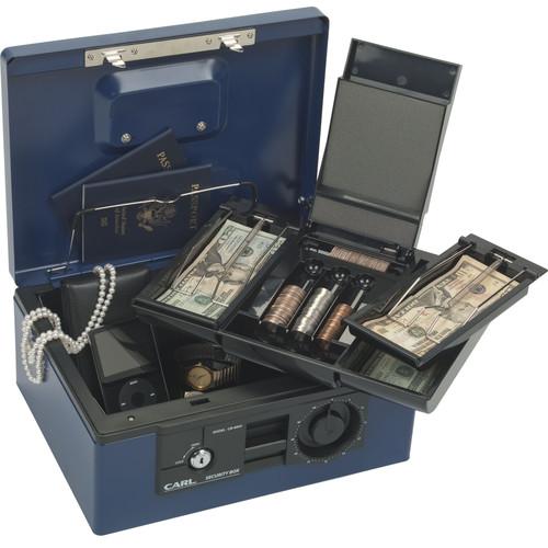 Carl CUI88650 Security Box With Dual Lock (Blue)