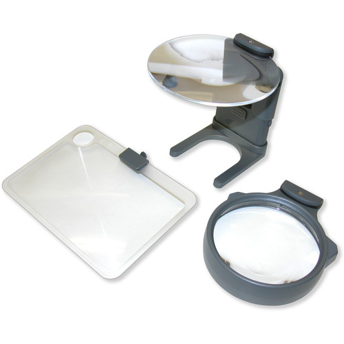 Carson HM-30 Three-in-One Lighted Hobby Magnifier (2x, 2x with 3x Spot, 3.5x)