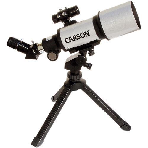 """Carson SkyRunner 2.8""""/70mm Refractor Telescope Kit"""