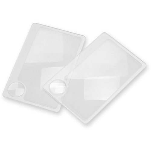 Carson WM-01 2.5x Wallet Magnifier Twin Pack with 6x Power Spot