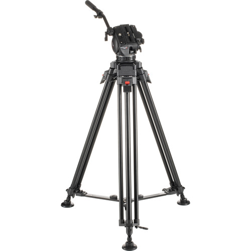Cartoni Focus HD Fluid Head & One-Stage 3-Tube Aluminum Alloy Tripod