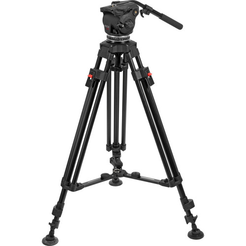 Cartoni Focus HD Fluid Head & Two-Stage 3-Tube Aluminum-Alloy Tripod