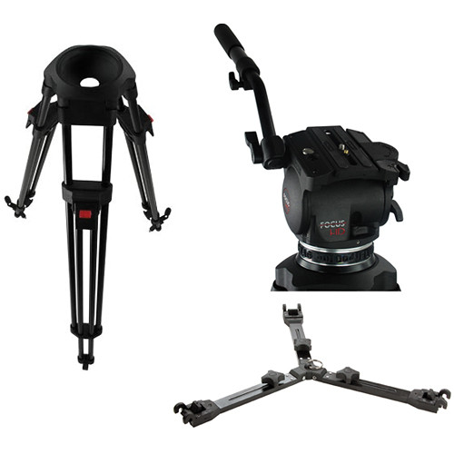 Cartoni Focus HD Fluid Head & One-Stage Aluminum Alloy ENG Tripod