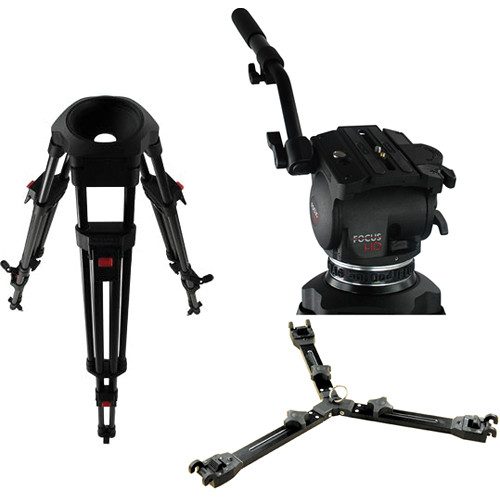 Cartoni Focus HD Fluid Head & Two-Stage Carbon Fiber ENG Tripod