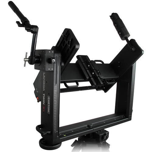 Cartoni Lambda Twin 3D Rig with 5 lb Weight