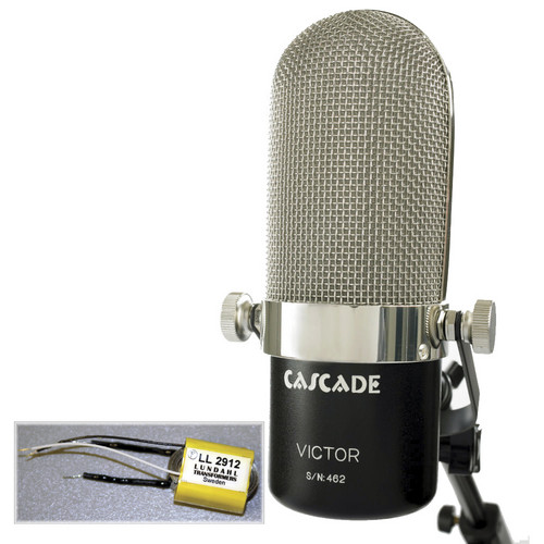 Cascade Microphones Victor Long Ribbon Microphone (Black/Silver, Lundahl LL2913 Transformer)
