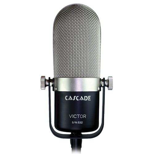 Cascade Microphones Victor Long Ribbon Microphone (Black/Silver, Stock Transformer)