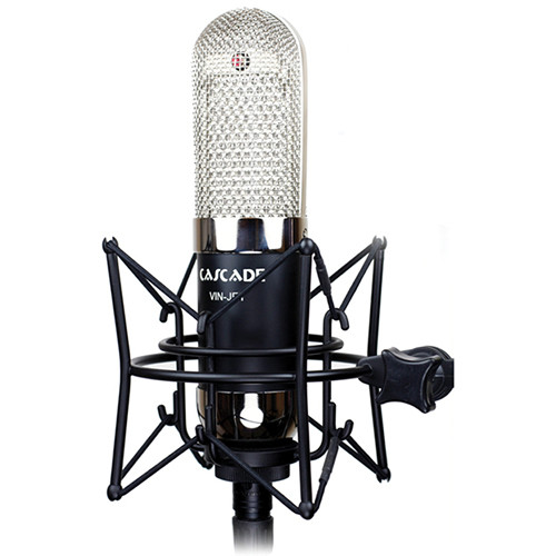 Cascade Microphones VIN-JET Long Ribbon Microphone (Black Body and Nickel Grill, Stock Transformer)
