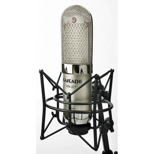Cascade Microphones VIN-JET Long Ribbon Microphone (Silver Body and Silver Grill, Stock Transformer)