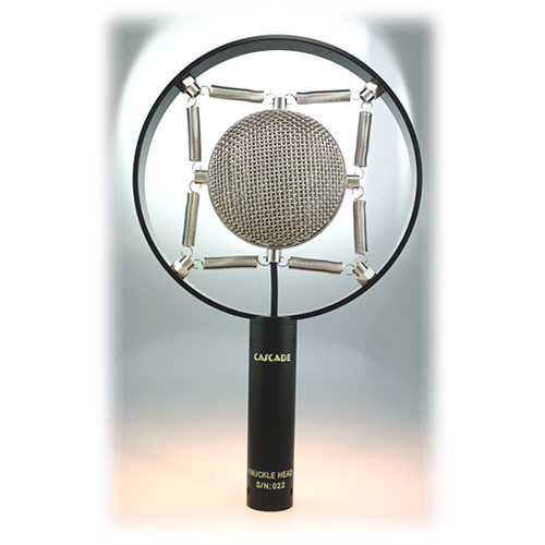 Cascade Microphones Knuckle Head Short Ribbon Microphone with Black Body and Polished Nickel Grill (Lundahl LL2912 Transformer)