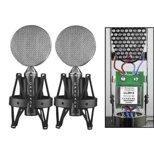 Cascade Microphones FAT HEAD Ribbon Microphone (Black Body and Silver Grill, Lundahl LL2912 Transformer)